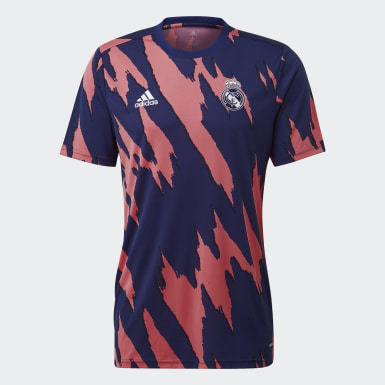Camiseta calentamiento Real Madrid Azul Hombre Fútbol