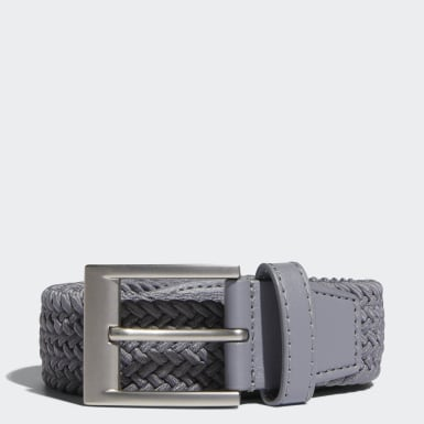 Men's Golf Grey Braided Stretch Belt