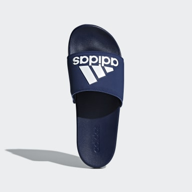 Heren Training blauw Adilette Cloudfoam Plus Logo Badslippers