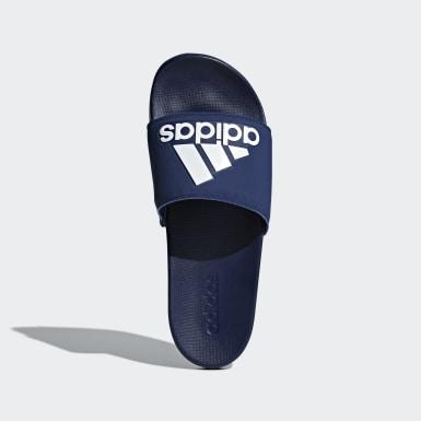 Muži Trénink modrá Pantofle Adilette Cloudfoam Plus Logo