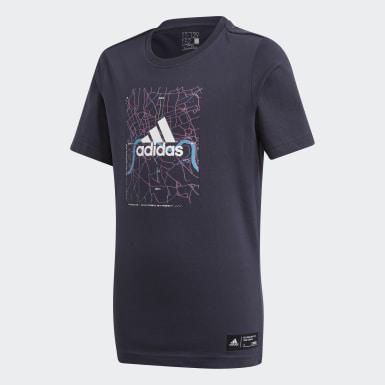 T-shirt London City Limits Blu Ragazzo Training