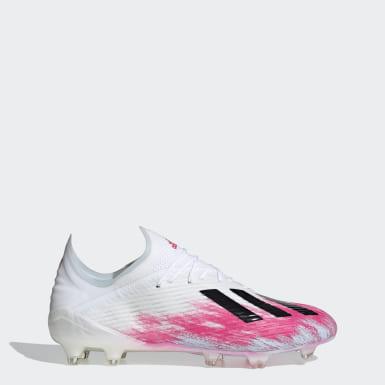 Zapatos de Fútbol X 19.1 Terreno Firme Blanco Hombre Fútbol
