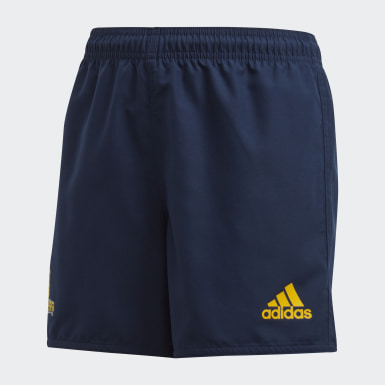 Boys Rugby Blue Highlanders Home Supporters Shorts