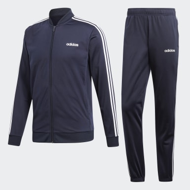 Heren Athletics blauw 3-Stripes Trainingspak