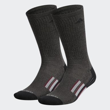 Men's Training Black Mid Crew Socks 2 Pairs