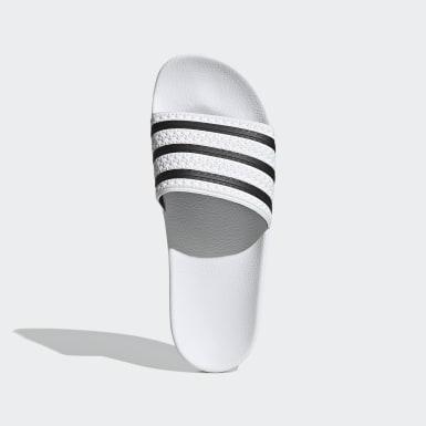 Originals สีขาว รองเท้าแตะ adilette