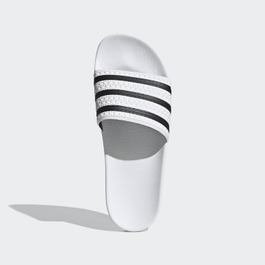 Men Originals White Adilette Slides