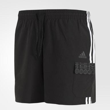 Men Athletics Black ID Cargo Shorts
