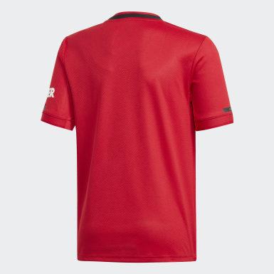 Boys Fodbold Rød Manchester United hjemmebanetrøje