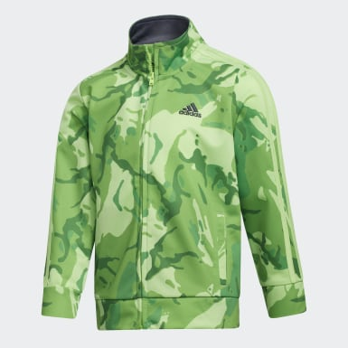Children Training Green Classic Camo Jacket and Joggers Set