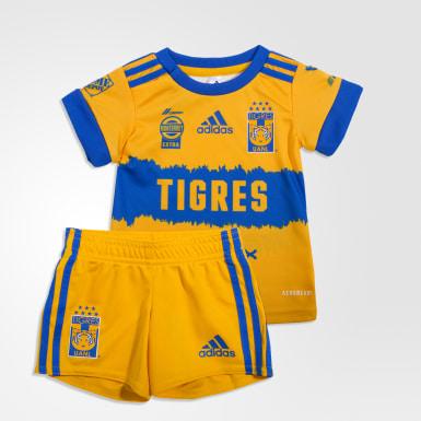 Uniforme Bebé Titular Tigres UANL 20/21 Amarillo Niño Fútbol