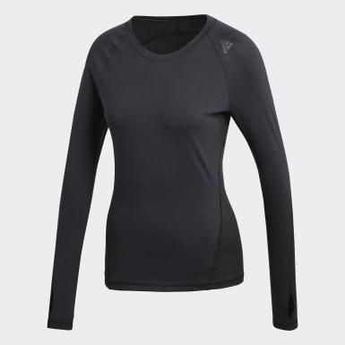 Kadın Training Siyah Alphaskin Sport Uzun Kollu Üst