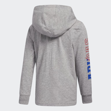 Children Training Grey Heathered Collegiate Hooded Tee