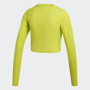 Women Originals Yellow Long Sleeve Crop Top
