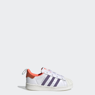 Kids Originals White Superstar EL Girls Are Awesome Shoes