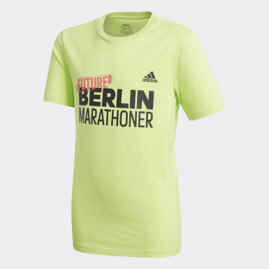 T-shirt Berlin Marathon Verde Ragazzo Running