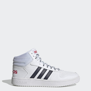 Chaussure Hoops 2.0 Mid Blanc Hommes Basketball