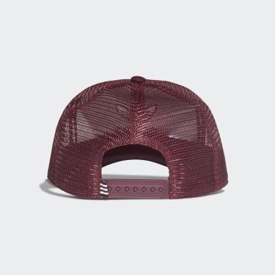 Originals Burgundy Trefoil Trucker Cap