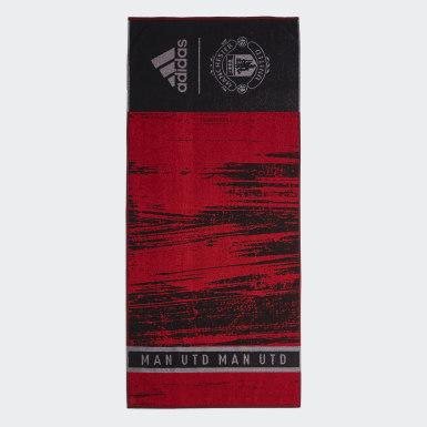 Toalha de Algodão do Manchester United Preto Natação