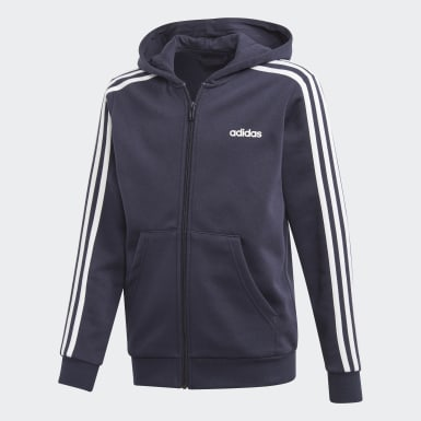 Boys Lifestyle Blue Essentials 3-Stripes Hoodie