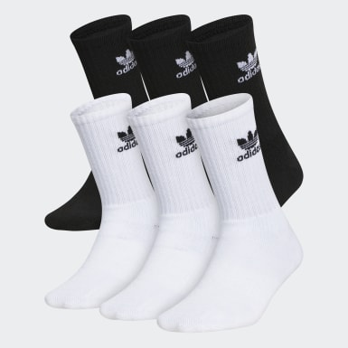 Youth Originals White Trefoil Crew Socks 6 Pairs