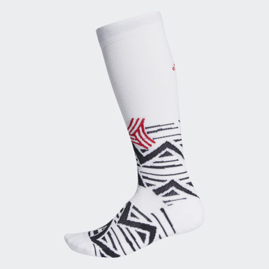 Football White Alphaskin Graphic Cushioned Socks