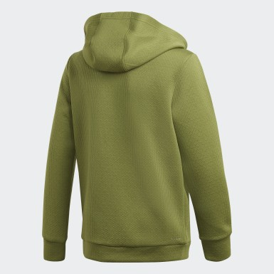 Youth Training Green Climawarm Hoodie