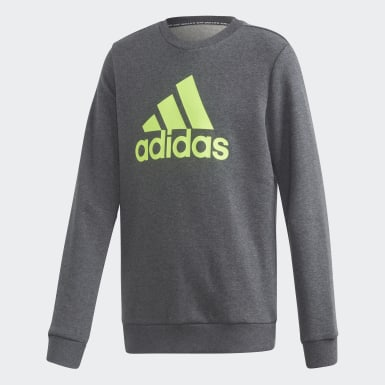 Sudadera Cuello Redondo Must Haves Badge of Sport Gris Niño Sport Inspired