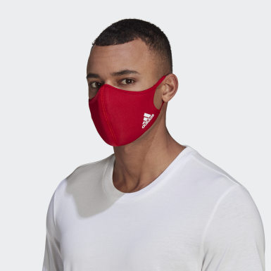 Face Covers M/L 3-Pack Czerwony