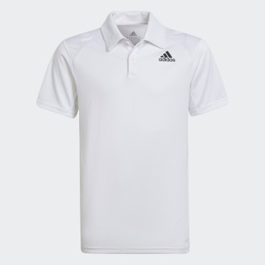 Boys Tennis White Club Tennis Polo Shirt