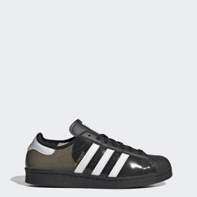 Men Originals Black Blondey adidas Superstar Shoes