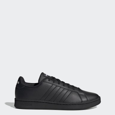 Sport Inspired Black Grand Court Shoes