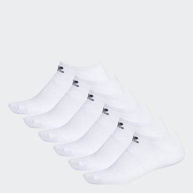 Men's Originals White Trefoil No-Show Socks 6 pairs