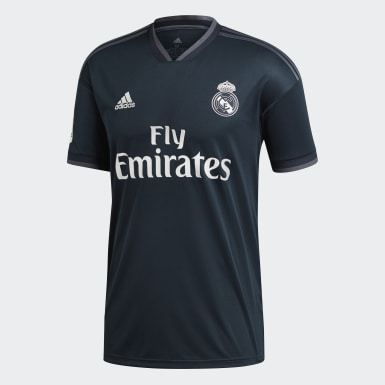 Men Football Grey Real Madrid Away Jersey