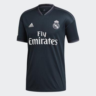 Mænd Fodbold Grå Real Madrid Replica udebanetrøje