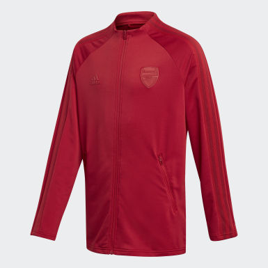 Männer Fußball FC Arsenal Anthem Jacke Weinrot