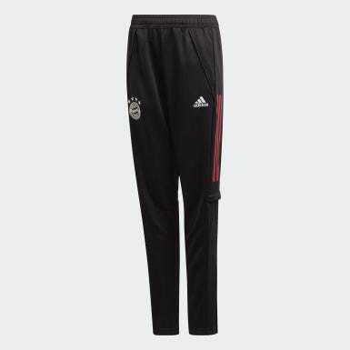 Děti Fotbal černá Tréninkové kalhoty FC Bayern