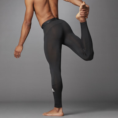 Men's Yoga Black Techfit Long Tights