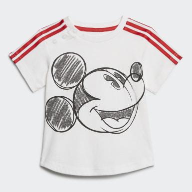 Conjunto de Verão Mickey Mouse Branco Criança Treino