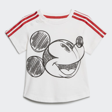 Kids Training White Mickey Mouse Summer Set