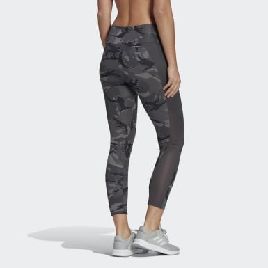 Tight AEROREADY Designed 2 Move Camouflage High-Rise 7/8 Gris Femmes Cross Training