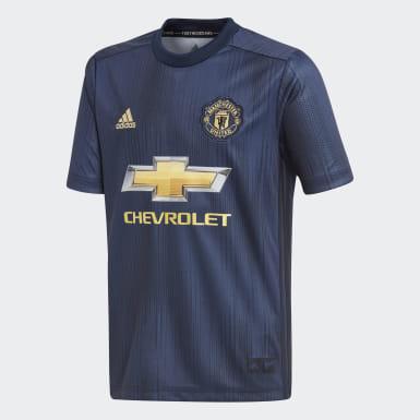 Jersey Tercer Uniforme Manchester United Réplica Azul Niño Fútbol