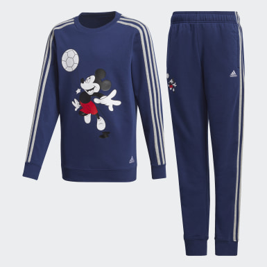 Kids 4-8 Years Training Blue Football Tracksuit