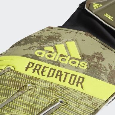 Kids Football Green Predator Training Junior Gloves