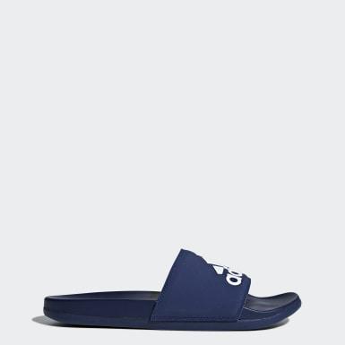 Claquette Adilette Comfort Bleu Natation