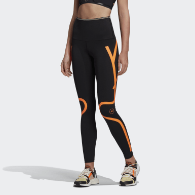 Women adidas by Stella McCartney Black TRUEPACE Long Leggings