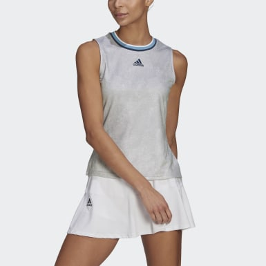 Women's Tennis White Tennis Primeblue Printed Match Tank Top