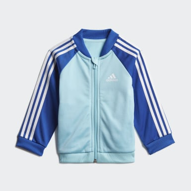 Kinder Athletics 3-Streifen Tricot Trainingsanzug Blau