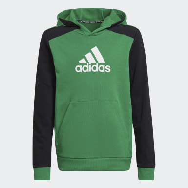 Felpa con cappuccio Logo Verde Ragazzo Training