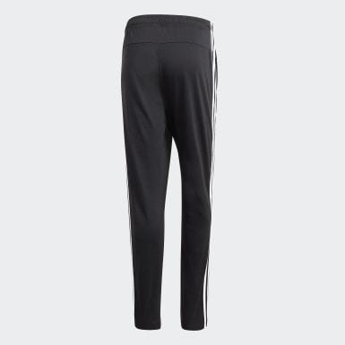 Muži Athletics černá Kalhoty Essentials 3-Stripes Tapered Open Hem